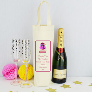 Personalised 'Teacher' Bottle Bag