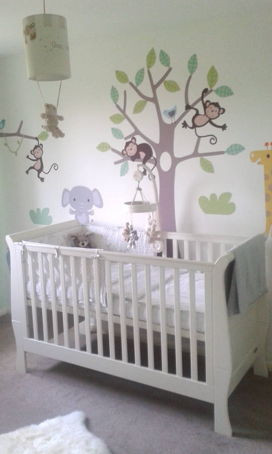 Pastel Jungle Safari Wall Stickers By Parkins Interiors