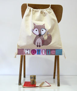 Personalised Girls Fox Bag