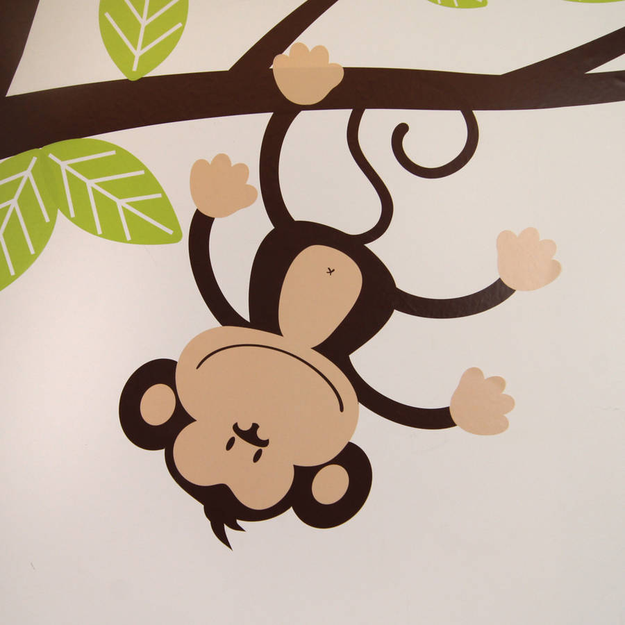 childrens cheeky monkey tree wall stickers by parkins