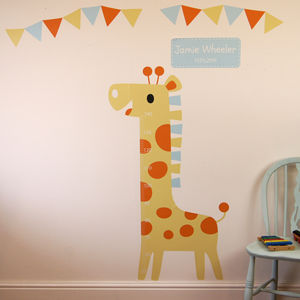 Personalised Childrens Height Chart Stickers
