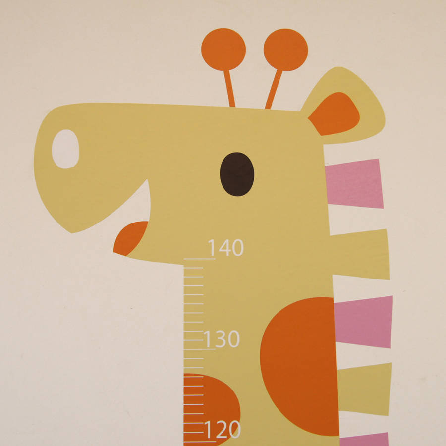 personalised childrens height chart stickers by parkins interiors ...