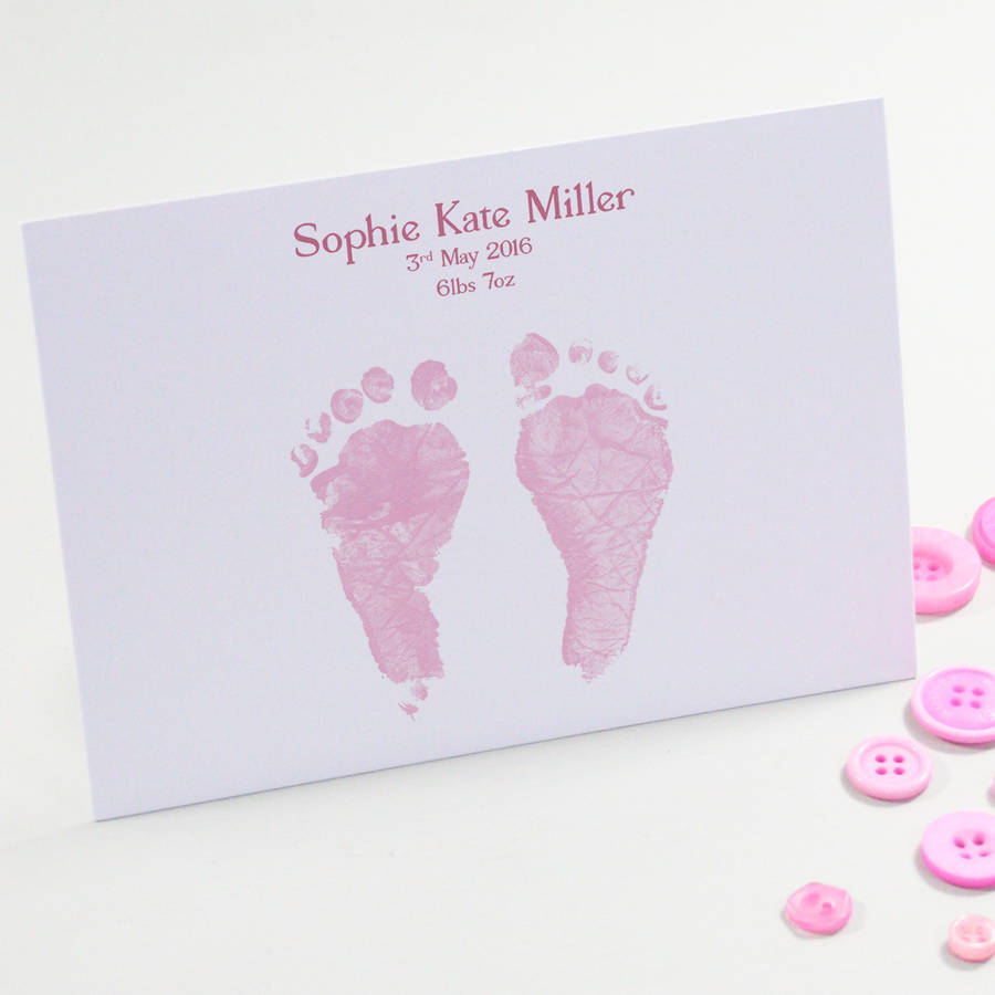 personalised illustrated birth announcement cards by this is – Photo Birth Announcement Cards