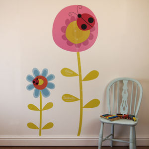 Childrens Flower Height Chart Wall Stickers