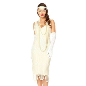 Evelyn 1920s Gatsby Inspired Flapper Wedding Dress - dresses