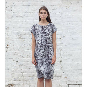 Reed Life Print Dress Made In UK