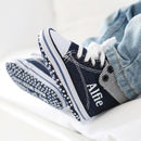 Personalised Denim Boys High Top Trainers