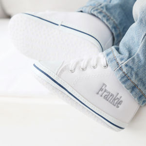 Personalised White High Top Trainers - clothing