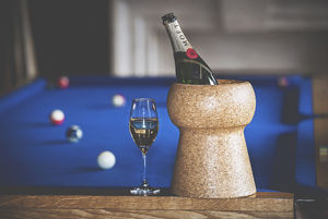 Giant Champagne Cork Cooler - outdoor dining