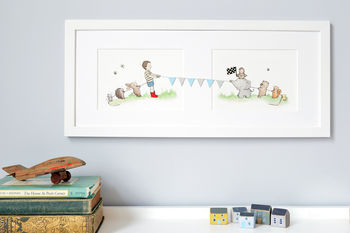 Boys Tug Of War Nursery Art
