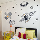 Kids Bedroom Wall Stickers Outer Space Feature Pack