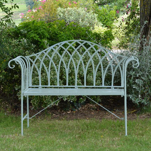 Loire Garden Bench In Lichen