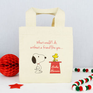 Personalised 'Friend Like You' Snoopy Bag