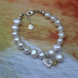 Pearl And Birthstone Christening Bracelet - children's jewellery