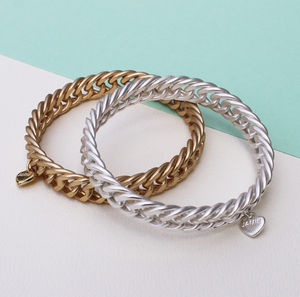 Statement Bangle With Woven Effect - bracelets & bangles