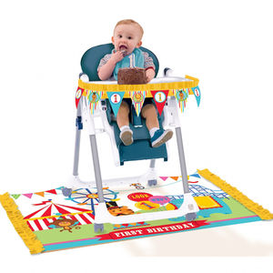 Circus 1st Birthday Party High Chair Decorating Kit