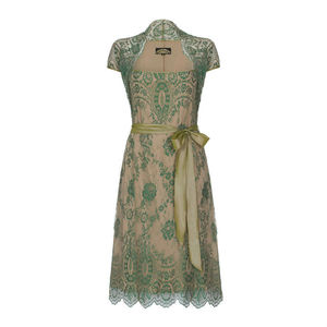 Olivia Dress In Montecarlo Green Lace