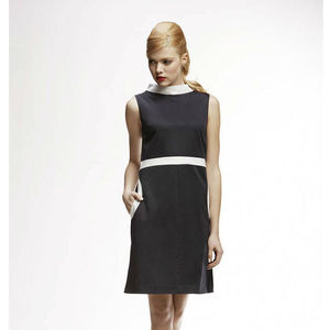 Monica High Neck A Line Dress