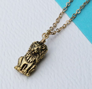 Lion Charm Necklace - view all sale items