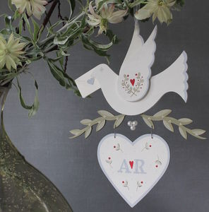Personalised Wooden Dove