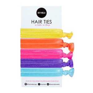 No Kinky Stuff! Hair Ties, Tropical Popsicle - hair accessories