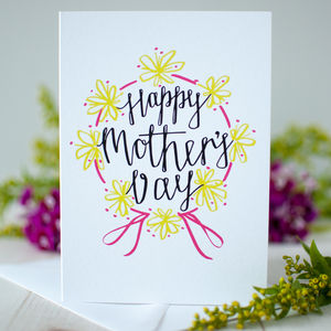 'Happy Mother's Day' Flowers Mother's Day Card