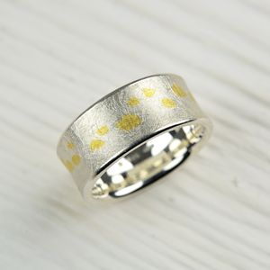 Silver And Fine Gold Ring - rings