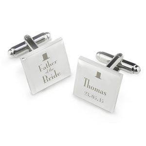 Father Of The Bride Square Cufflinks - cufflinks