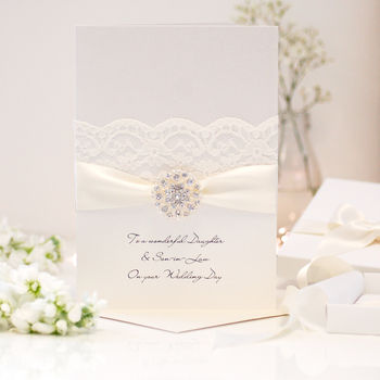 Opulence Large Personalised Wedding Card