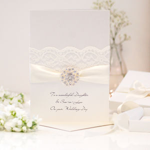 Opulence Large Personalised Wedding Card - wedding cards