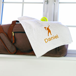 Personalised Tennis Towel - beach & sports towels