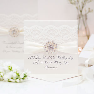 Opulence Congratulations Personalised Wedding Card - wedding cards & wrap