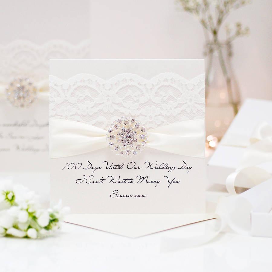 Opulence Vintage Cluster Wedding Card