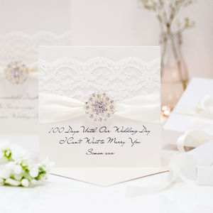 Opulence Vintage Cluster Wedding Card - wedding, engagement & anniversary cards