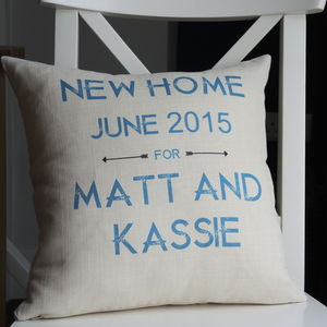 Personalised New Home Cushion - cushions