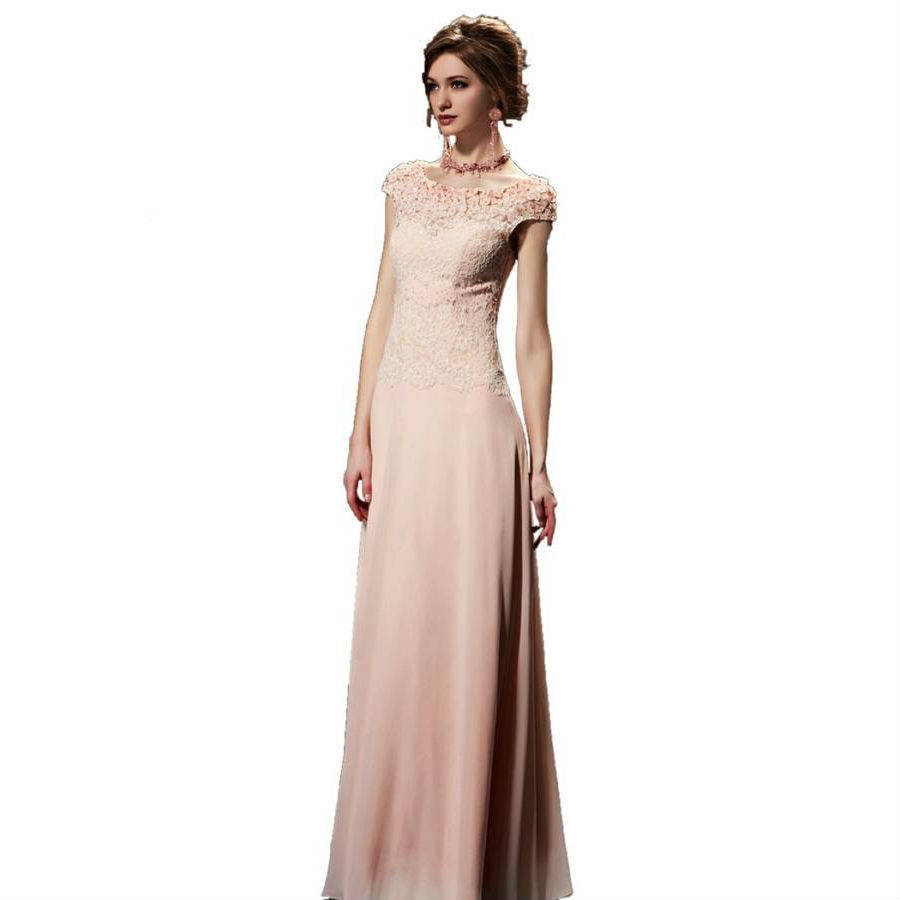 sleeved pink long evening dress by elliot claire london ...