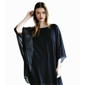 Women's Contemporary Black Cape Tunic Dress - kaftans & cover-ups