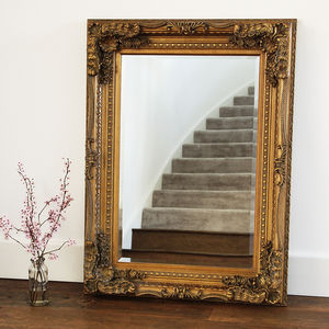 Gold Carved Wall Mirror - mirrors