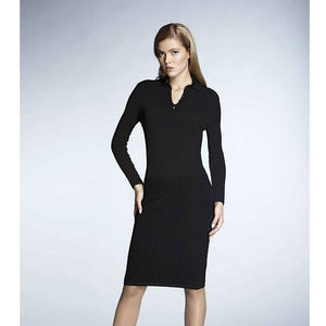 Olivia Black Soft Merino Wool Dress - women's fashion