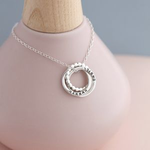 Personalised Silver Eternity Bead Necklace - necklaces & pendants