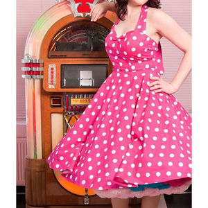 Pink And White Polkadot Dress