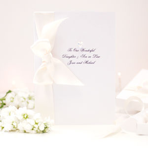 Bedazzled Large Boxed Wedding Card - wedding cards & wrap