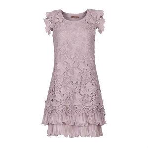 Mauve Crochet Lace Dress - bridesmaid fashion
