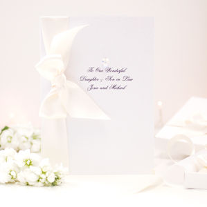 Bedazzled Large Crystal Personalised Wedding Card