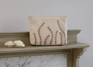 Ivory Heart Reed Pouch