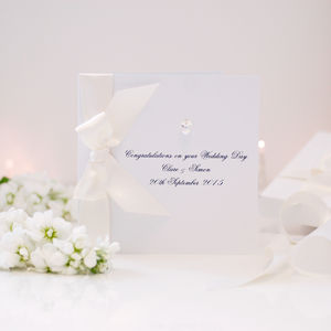 Bedazzled Personalised Crystal Luxury Wedding Card - wedding cards