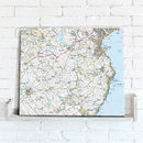 Postcode Centred Map Canvas Ordnance Survey Explorer