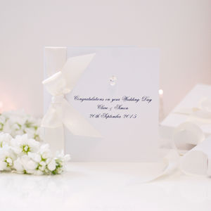 Bedazzled Personalised Wedding Card Boxed - engagement cards