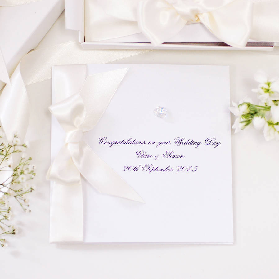 Bedazzled Personalised Wedding Card Boxed By Made With Love