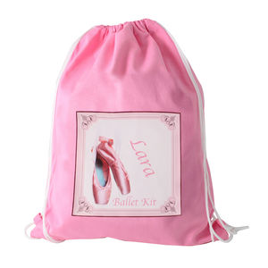 Personalised Ballet Shoes Kit Bag Or Swim Bag